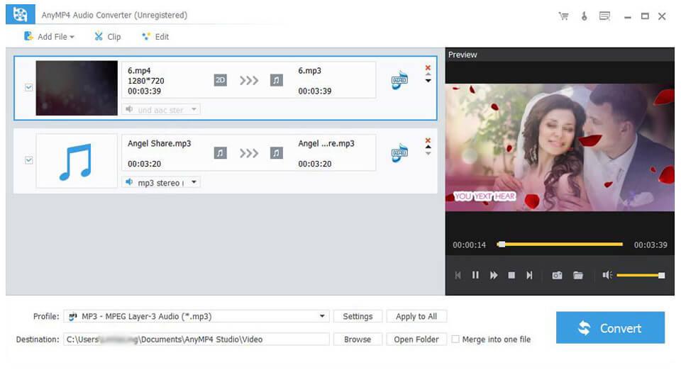 AnyMP4 Audio Converter – 音频转换软件限时免费领取