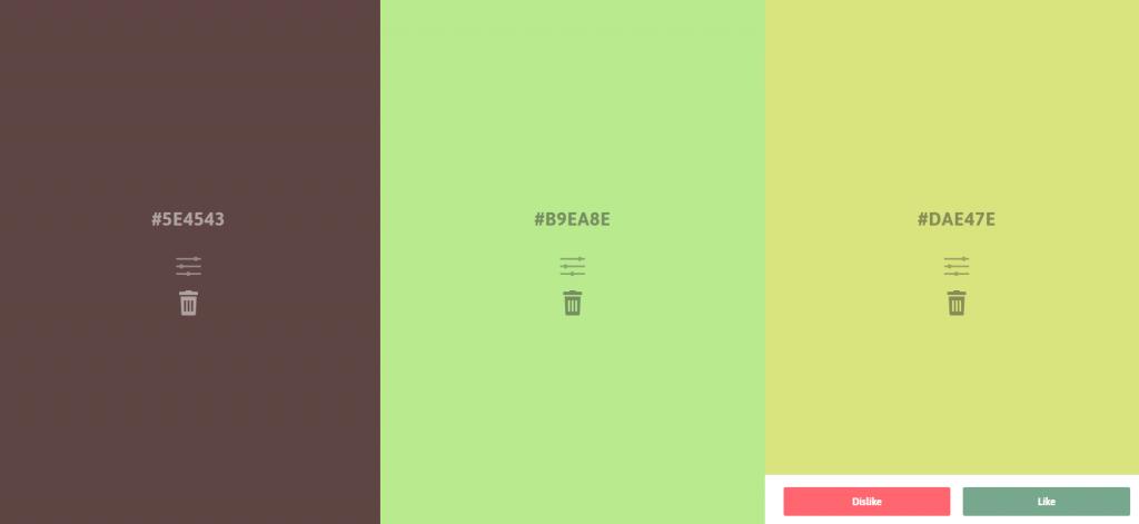 Palettable - 一个人工智能配色小工具网站